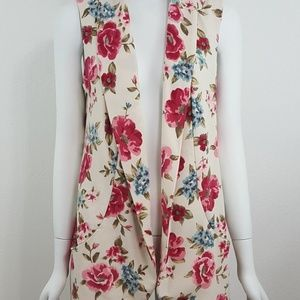 Sleeveless Duster Vest - Floral on Trend